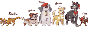 Anchor Dog Lineup by colonel-strawberry