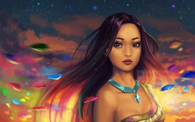 Pocahontas - wallpaper by Yuuza