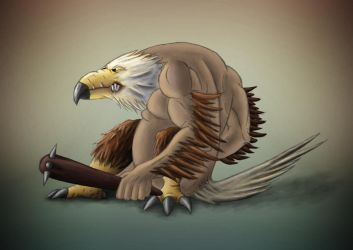 Troll and Eagle fusion by StormXF3