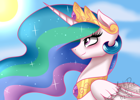 Princess Celestia: A Sunny Day by Jack-Pie