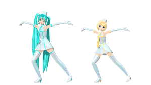 MMD DT Resort Miku and Rin by willianbrasil