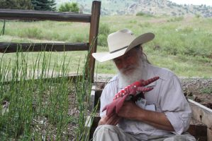 Dr. Bob Bakker with Andy the Anomalocaris by ChenoaEllinghaus