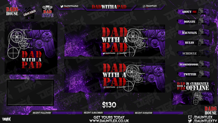 DadWithAPad Twitch Stream set by DauntlexGFX