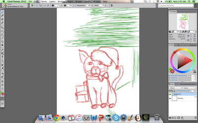 Christmas Cat WIP #1 by KoiCatCreations