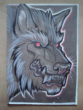 Werewolf portrait by missmonster