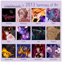 2013 Summary of Art by CrispyCh0colate