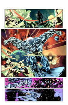 Silver Surfer #1 pg 1 colors by tofuthebold