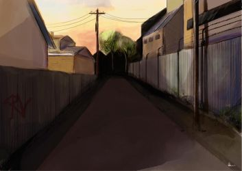 Secluded Street Concept Coloured by ANNAS0R