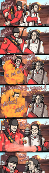 TF2: Soldier and Medic by MoonlightTheWolf