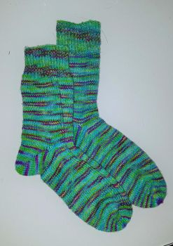 Swooping Evil sparkling socks by KnitLizzy