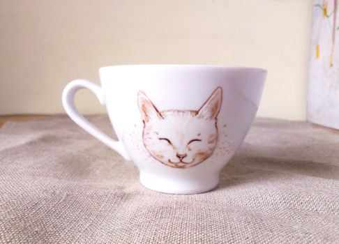Smiling cat by cydienne