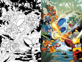 Rumble in the Jungle (Mega Man 30) by herms85