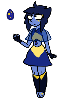 Gold-spotted Blue Stone by MapleBranchWing