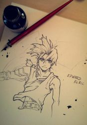 Edward Elric [Dip Pen] by studioodin