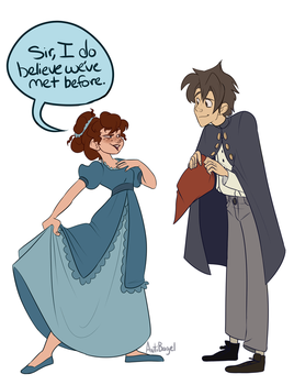 Beatrice and Wirt by sketchbagel