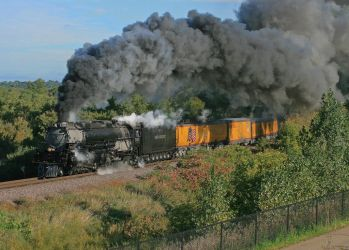 Old Union Pacific Steam Passenger Train by ROGUE-RATTLESNAKE