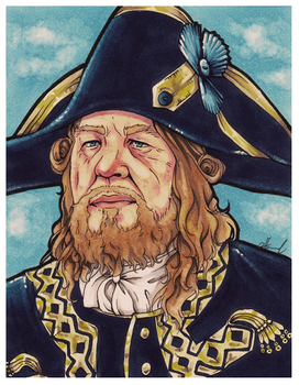 #001 - Hector Barbossa [Pirates Of The Caribbean] by NessaSan