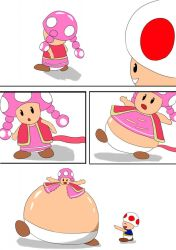 Toadette and Toad inflation page 1/2 by loveluigiman