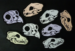 FOR SALE: GLOWING animal skull patches - by goiku