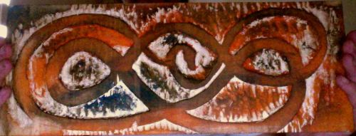 world serpent practice on impossible wood painted by chieftain8alpha8wolf