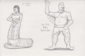 Figure 30 - Snake Ukari and El Pollo Devestador by TheHiddenElephant