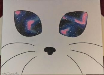 Kitty Sees the Galaxy by PsyckoStinaMuffin