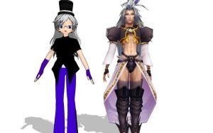 Kujano and Kuja mmd  by Sephikuji