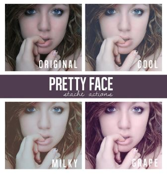 Pretty Face Action Pack by StacheActions