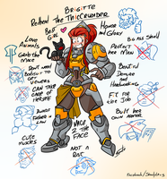 Brigitte best waifu - Overwatch by GunShad