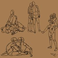 Couple poses by TastyOranges