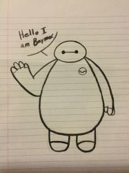 Hello I am Baymax. by Infinity-Drawings