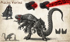 Ascha'Vovina - Kaiju Concept Commission by EmilyStepp