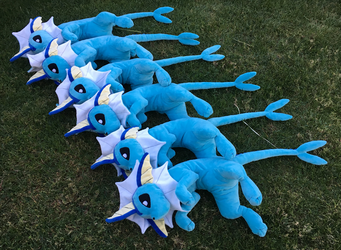 Vaporeon plush FOR SALE by racingwolf