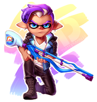 Inkling Ben with Squiffer by TooterDoodles