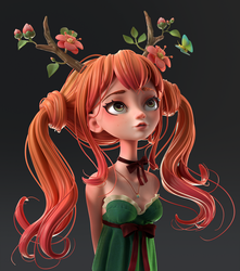 Druid Girl |  Polypaint by Alina-207
