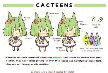 Cacteens: Closed Species by miolet