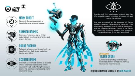Irux: The final boss of Overwatch (hero concept) by Hypergon