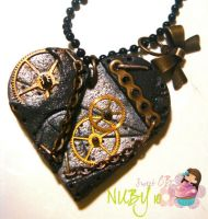 Black Heart Necklace by colourful-blossom