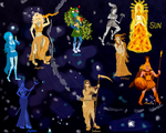 Solar System as Women by KingaQwerty