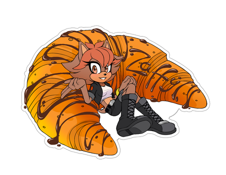 Comm. Food Sticker. Zaffy by 13VOin