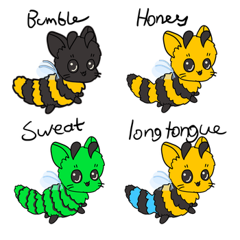 CatBees1 by CuddlySpider