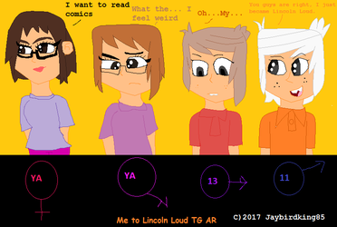 I become Lincoln Loud (TG AR) by jaybirdking85
