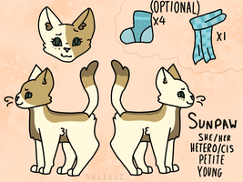 Sunpaw ref sheet by Smileyme2