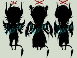[CLOSED] Demon Adoptables [Auction] by Kyun-Sein