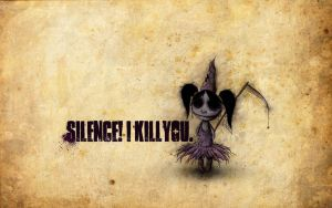 SILENCE i kill you by RabensteinerDesign