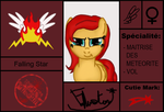 Carte Blazin Angel: Falling Star by stashine-nightfire