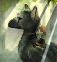 The Last Guardian and Hoshi by Innocent-raiN