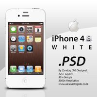 Apple iPhone 4S White .PSD by zandog