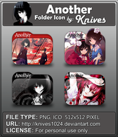 Another Anime Folder Icons by Knives by knives1024