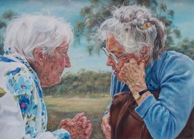 Reminiscing - Oil Painting by AstridBruning